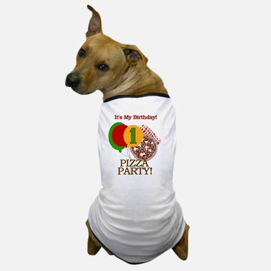 Pizza Party 1st Birthday Dog T-Shirt
