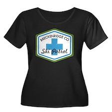 Breckenr Women's Plus Size Dark Scoop Neck T-Shirt
