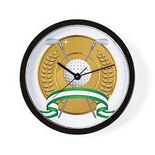 Golf Emblem Wall Clock
