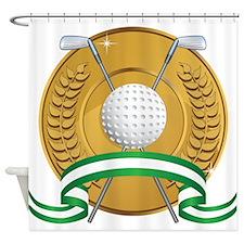 Golf Emblem Shower Curtain