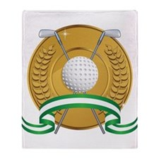Golf Emblem Throw Blanket