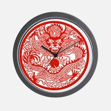 Asian Dragon Wall Clock