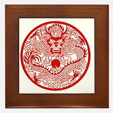 Asian Dragon Framed Tile