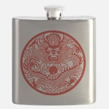 Asian Dragon Flask