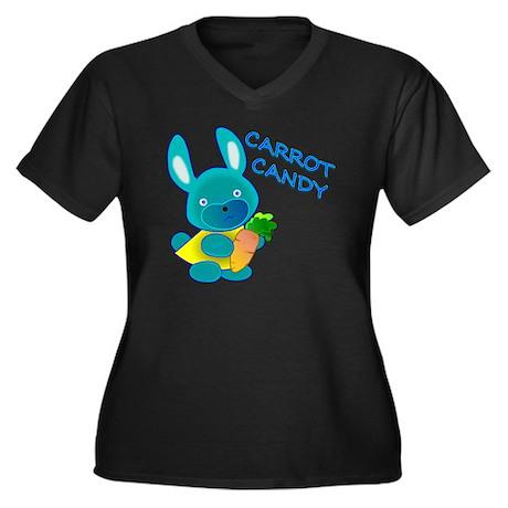 Carrot Candy Women's Plus Size Dark V-Neck T-Shirt