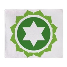 Anahata Chakra Throw Blanket