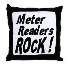 Meter Readers Rock ! Throw Pillow