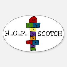 Hopscotch Sticker (Oval)