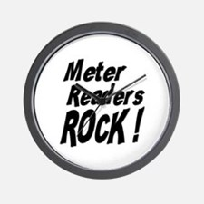 Meter Readers Rock ! Wall Clock