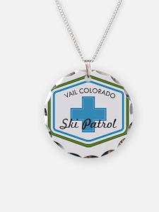 Vail Ski Patrol Badge Necklace