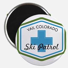 Vail Ski Patrol Badge Magnet