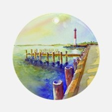 Path To Barnegat Light Round Ornament