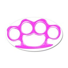 Knuckle Duster 35x21 Oval Wall Decal