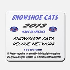 Snowshoe Cat Calendar Cover Page Mousepad