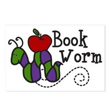 Book Worm Postcards (Package of 8)