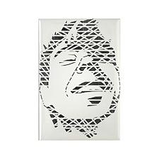 Love Revolution Face (Faded Black Rectangle Magnet
