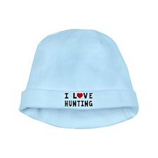 I Love Hunting baby hat