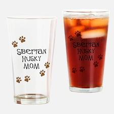 Siberian Husky Mom Drinking Glass