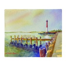 Path to Barnegat Light Throw Blanket