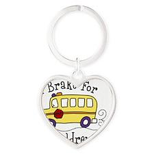 I Brake For Children Heart Keychain