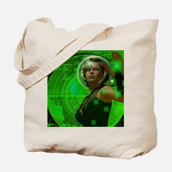 Bubblehead Green Screen Tote Bag