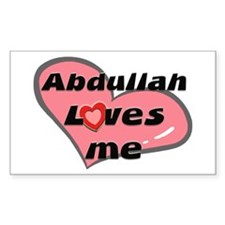 abdullah loves me Rectangle Decal