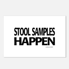stool samples happen Postcards (Package of 8)