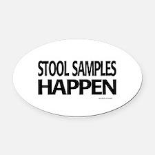 stool samples happen Oval Car Magnet