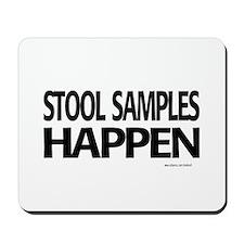 stool samples happen Mousepad