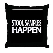 stool samples happen Throw Pillow