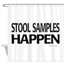 stool samples happen Shower Curtain