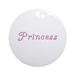 Princess (curly font) Ornament (Round)