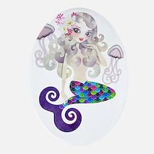 Amethyste Mermaid Oval Ornament