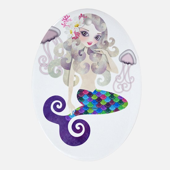 Amethyste Mermaid Oval Ornament