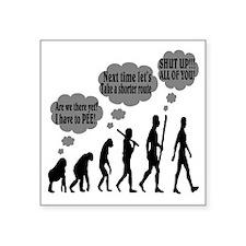 "Evolution Square Sticker 3"" x 3"""