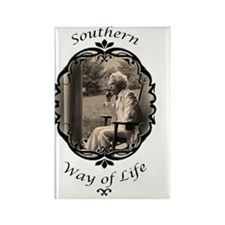 southern way of life logo Rectangle Magnet