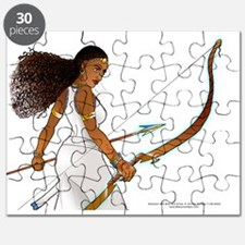 Nuhamin with Bow  Arrow - white background Puzzle