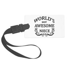 World's Most Awesome Niece Luggage Tag