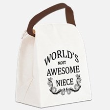 World's Most Awesome Niece Canvas Lunch Bag
