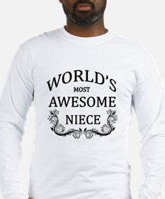 World's Most Awesome Niece Long Sleeve T-Shirt