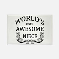 World's Most Awesome Niece Rectangle Magnet (10 pa