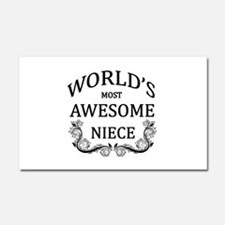 World's Most Awesome Niece Car Magnet 20 x 12