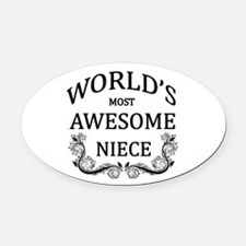 World's Most Awesome Niece Oval Car Magnet