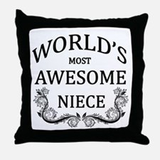 World's Most Awesome Niece Throw Pillow