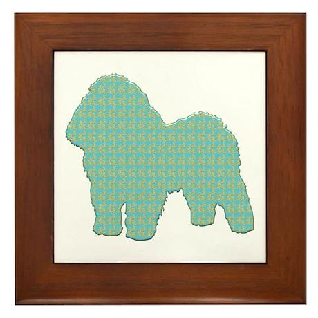 Paisley Bolognese Framed Tile
