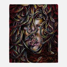 Medusa No.Three Framed Print Throw Blanket