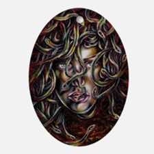 Medusa No.Three Framed Print Oval Ornament