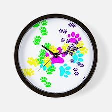 Pawprints Wall Clock
