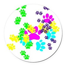 Pawprints Round Car Magnet