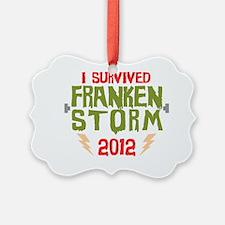 I Survived Frankenstorm Ornament